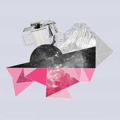 Nous aimons beaucoup Line de Ceren Kilic. Nous sommes dans les années 1960 et de nouveaux objets voient le jour. Ils éveillent la curiosité de tous. Ce gros cube avec un hublot, par exemple, Mireille a plongé la tête dedans pour tenter d'en percer les mystères. Mais tout ce qu'elle y a vu c'est un ciel noir rempli d'étoiles, comme un cosmos. Ensuite, le ciel s'est transformé en une montagne rose pâle aux contours géométriques. Et tout d'un coup, les couleurs se sont éteintes et tout est…