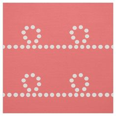 Coral Dotted Trail Fabric by Stickelberry