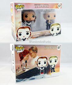 Funko Pop- Jack et Rose: Titanic Funko Pop Dolls, Figurines Funko Pop, Funko Pop Figures, Vinyl Figures, Pop Custom, Custom Funko Pop, Disney Pixar, Disney Pop, Funk Pop