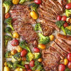 http://damndelicious.net/2016/12/16/sheet-pan-steak-and-veggies/