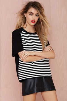 Get In Line Knit Tee | Shop Tops at Nasty Gal