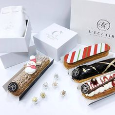 Eclairs, Choux Pastry, Food Design, Happy Life, Donuts, Cake Recipes, Food And Drink, Xmas, Cooking Recipes