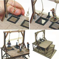 Hangman's Gallows – stronghold-terrain. Dungeons And Dragons Memes, Model Supplies, Trap Door, Gallows, Le Far West, Nightmare On Elm Street, Old West, Wooden Flooring, Stairways