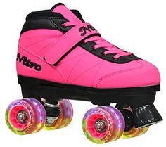 2016 Epic Nitro Turbo Pink LED Light Up Quad Roller Speed Skates w/ 2 pair of laces (Pink & Black) (Mens - deal coupon Skates On The Bay, Skates For Sale, Kids Skates, Speed Roller Skates, Quad Skates, Speed Skates, Skate Store, Black Highlights, Skate Wheels