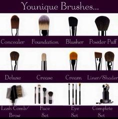 Best brushes ever! Invest in a good quality set of brushes. Younique brushes are a great investment! Eye Makeup Brushes, Eye Makeup Remover, Makeup Brush Set, Makeup Tools, Bros, Younique Presenter, Best Brushes, Makeup Blog, Make Up
