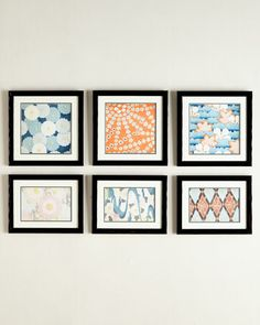 Vintage-Pattern Prints Wall Gallery - Horchow
