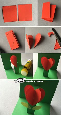 children activities, more than 2000 coloring pages – Valentinstag Cute Valentines Day Ideas, Valentine Day Crafts, Holiday Crafts, Diy And Crafts, Paper Crafts, Mothers Day Crafts For Kids, Pop Up Cards, Flower Crafts, Diy Gifts
