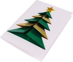 29 Best Ideas For Origami Christmas Cards Crafts Origami 3d, Useful Origami, Origami Stars, Origami Easy, Christmas Origami, Diy Christmas Cards, Christmas Crafts For Kids, Christmas Decorations, Christmas Ornaments