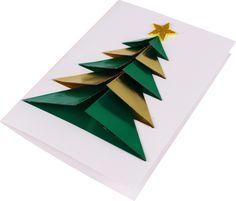 Une carte sapin origami 3D très facile à réaliser (même par les enfants !). Une carte originale à offrir pour souhaiter un Joyeux Noël ou ses vœux pour la nouvelle année :)