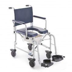 Silla de ducha LIMA rueda pequeña #baño #wc #adaptado #discapacitado #minusvalido #disabled #bath #bathroom #toilet #shower #higiene #inodoro