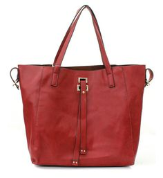 2 in 1 Drake Tote in Cranberry