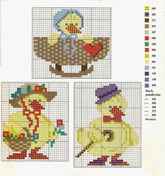 Cross Stitching, Cross Stitch Embroidery, Easter Cross, Cute Cross Stitch, Spring Crafts, Kids Rugs, Birds, Blanket, Pattern