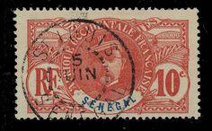 SÉNÉGAL - ca. 1912 - CACHET À DATE DE St-LOUIS SUR 10c FAIDHERBE