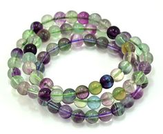 Hand Made Fluorite Gemstone Stretch Bead Bracelet Set of 3 *** Read more reviews of the product by visiting the link on the image.
