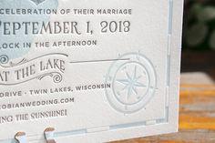 Oh So Beautiful Paper: Katy + Dan's Lakeside Wisconsin Wedding Invitations