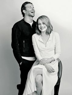 Emma Stone and Bradley Cooper by Jermaine Francis.