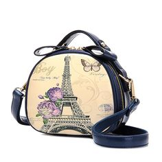 2017 vintage circle mini bag doodle trend one shoulder crossbody women's handbag Cartoon messenger bags #Affiliate