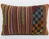 vintage kilim pillow 16x24 outdoor decor bohemian cushion kilim cushion cover organic pillow case gypsy pillow case large sofa pillow 29595