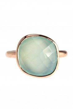 rose gold plated #chalcedony #ring I designed for NEW ONE I NEWONE-SHOP.COM
