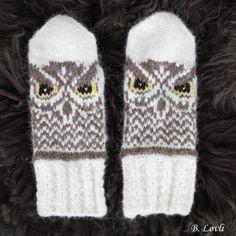 Ravelry: Lune Ugler pattern by StrikkeBea Mittens Pattern, Ravelry, Gloves, Knitting, Crochet, Winter, Design, Owls, Moon