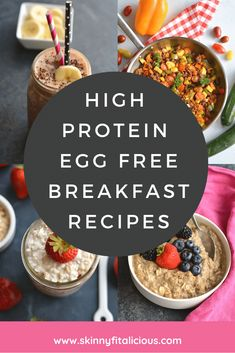 These high protein egg free breakfast ideas are healthy, low calorie and simple to make with real food and nourishing ingredients. Low Calorie Breakfast, Healthy Low Calorie Meals, High Protein Breakfast, Free Breakfast, Low Calorie Recipes, Healthy Breakfast Recipes, Healthy Foods To Eat, Breakfast Ideas, Healthy Eats