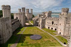Castelo de Caernarfon, País de Gales