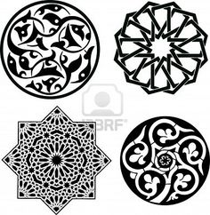 Illustration of Islamic ornament pattern vector art, clipart and stock vectors. Motifs Islamiques, Islamic Motifs, Islamic Art Pattern, Arabic Pattern, Pattern Art, Turkish Pattern, Pattern Sketch, Mosaic Patterns, Islamic Calligraphy