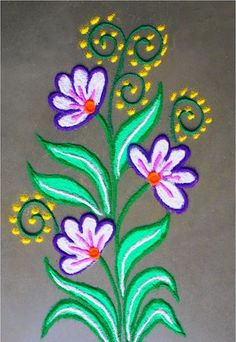 Beautiful and Easy Rangoli Designs for Kids