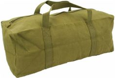 Mens Equipment Heavy Duty Canvas Tool Travel Canvas Pack Surplus Bag Green Army Military Combat New: Amazon.co.uk: Shoes & Bags