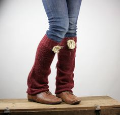 repurposed sweaters | Upcycled Recycled Repurposed Sweater Leg Warmers by Saxiib on Etsy