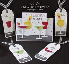 Alex's Creative Corner: Party Time Cocktail gift card set