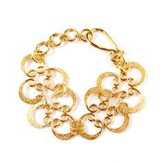 Solid Brass flower design bracelet. Juju art jewelry bracelet collection. #bracelet #brass #fashion #jewelry #womenfashion #fairtrade #creation #design