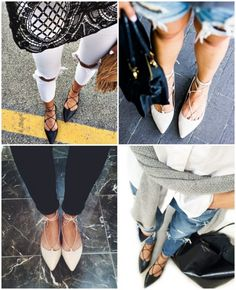 Ainda Sobre Sapatos: Lace Up Flat!