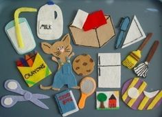 If you give a mouse a cookie.  Could make shapes from a child's favorite book for them to play with in a felt book  Great idea!
