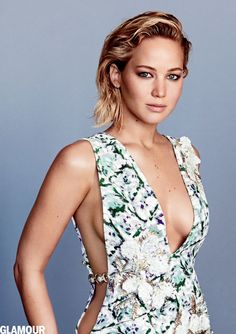 Jennifer Lawrence wears a Dior dress and Anita Ko earrings in the February issue of 'Glamour.' Photo: Patrick Demarchelier/Glamour