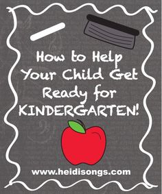 How to Help Your Child Get Ready for Kindergarten