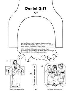 Scripture Meditations Bible craft fiery furnace                                                                                                                                                                                 More