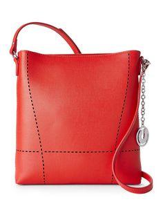 d48322714f CHARLES JOURDAN Red Nira Designer Crossbody Handbag - GoGetGlam - 3