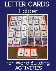 Letter Cards Holder for word building activities Kindness Activities, Pre K Activities, Kids Learning Activities, Alphabet Activities, Kindergarten Activities, Writing Activities, Fun Learning, Educational Activities, Preschool