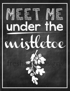 Meet Me Under the Mistletoe by freshairedesigns on Etsy