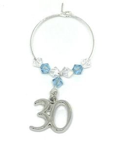 Silver plated Charm set with Aquamarine and Clear Swarovski Crystals make this gorgeous wine glass charm Aquamarine is the birthstone colour for March. Swarovski Gifts, Swarovski Crystals, Wine Glass Charms, Personalised Gifts, Aqua Marine, Organza Bags, Birthstones, 30th, Silver Plate