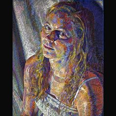 John Smolko, CPSA - Ohio  Audrey, No. 1 (Senior) - 40 x 32 inches  colored pencil, oil pastel