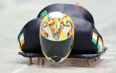Sean Greenwood of Ireland sports a colourful ram's skull