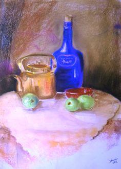 still life painting...soft pastel