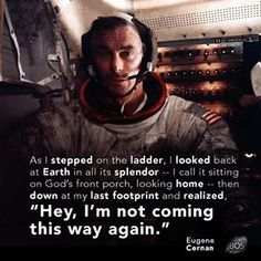 Another moonwalker has passed. Gene Cernan, the last man on the moon, died today.#RIPexplorer, thank you for pushing the boundaries for all of us.