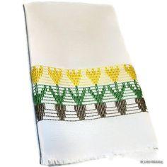 Kitchen Towel Swedish Weaving Huck Yellow Tulips by CanDoStitching, $13.75
