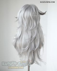 [Kasou Wig] Fate Apocrypha Saber of Black Siegfried medium layered light gray cosplay wig with black streaks KA003