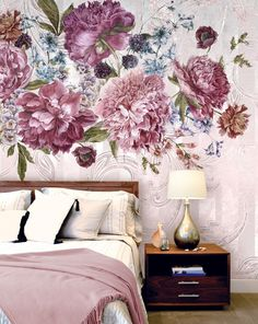 Bloom Wallpaper - Textured Vinyl Wallpaper on non-woven base.