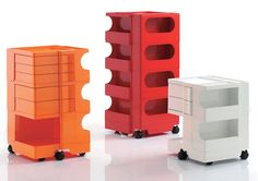 Iconic Joe Colombo Boby Cart in lovely shades of 1970s.