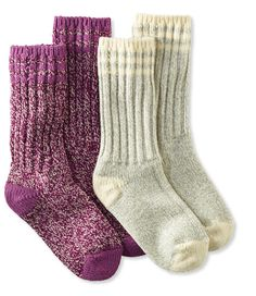 """Some Warm socks tall enough for boots - Im size 7.5 shoe. Merino Wool Ragg Sock, 10"""" Stripe 2-Pack"""